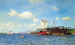 Fresh Wind on the Volga, 1895 von Isaac Levitan | Gemälde-Reproduktion