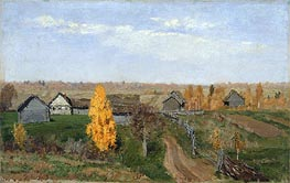 Golden Autumn. Slobodka | Isaac Levitan | Painting Reproduction
