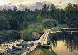 At the Shallow | Isaac Levitan | Painting Reproduction