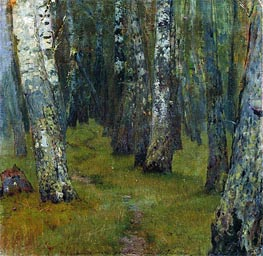 Birches. Grove Outskirts | Isaac Levitan | Gemälde Reproduktion