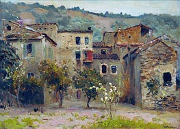 Near Bordighera. North Italy | Isaac Levitan | Gemälde Reproduktion
