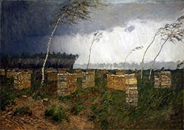 Storm. Rain, 1899 by Isaac Levitan | Painting Reproduction