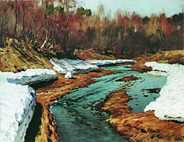 Spring. Last Snow, 1895 by Isaac Levitan | Painting Reproduction