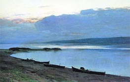 Evening on Volga | Isaac Levitan | Painting Reproduction