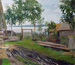 Court Yard | Isaac Levitan | Painting Reproduction