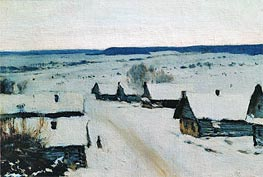 Village. Winter | Isaac Levitan | Painting Reproduction