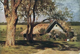 Small House with Willows, c.1880/85 von Isaac Levitan | Gemälde-Reproduktion