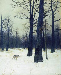 Wood in Winter, 1885 by Isaac Levitan | Painting Reproduction