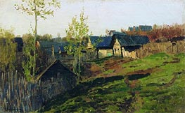 The Log Huts Shined by the Sun, 1889 von Isaac Levitan | Gemälde-Reproduktion