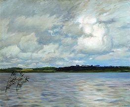 Lake. Grey Day, 1895 von Isaac Levitan | Gemälde-Reproduktion