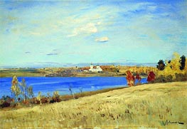 Autumn. River, c.1898/99 by Isaac Levitan | Painting Reproduction