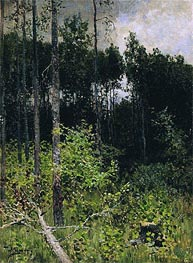 Aspen. Grey Day, 1884 by Isaac Levitan | Painting Reproduction