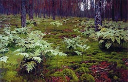 Fern in Wood | Isaac Levitan | Gemälde Reproduktion