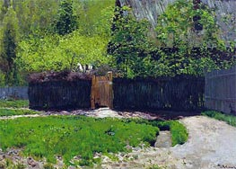 The First Greens. May, c.1883/88 von Isaac Levitan | Gemälde-Reproduktion