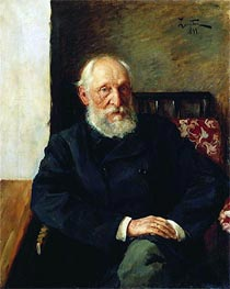 Portrait of Panafidin, 1891 by Isaac Levitan | Painting Reproduction