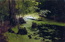 Pond, Undated by Isaac Levitan | Painting Reproduction