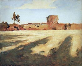 Reaped Field, 1897 by Isaac Levitan | Painting Reproduction