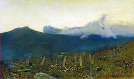 The Tatar Cemetery. Crimea, 1886 by Isaac Levitan | Painting Reproduction