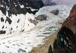 Alps. Snow | Isaac Levitan | Painting Reproduction