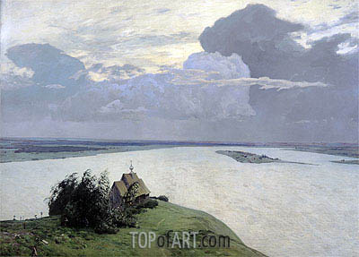 Above the Eternal Peace, 1894 | Isaac Levitan | Gemälde Reproduktion