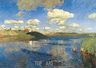 The Lake. Russia, 1895 | Isaac Levitan | Gemälde Reproduktion