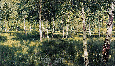 Birch Grove, 1889 | Isaac Levitan | Painting Reproduction