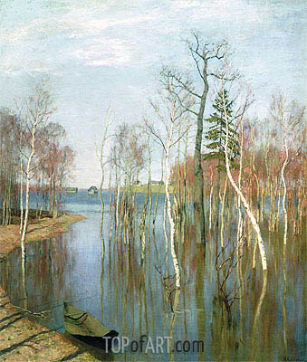 Spring, High Water, 1897 | Isaac Levitan | Painting Reproduction