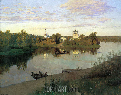 The Evening Bell Tolls, 1892 | Isaac Levitan | Painting Reproduction