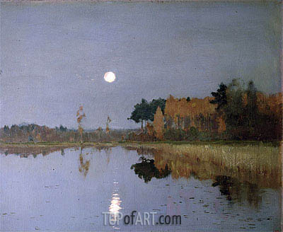 The Twilight Moon, 1899 | Isaac Levitan | Gemälde Reproduktion