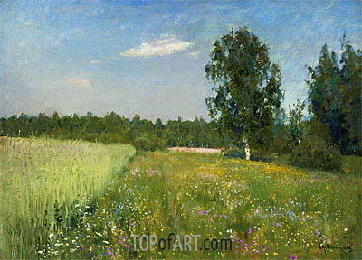 June. Summer, c.1890/00 | Isaac Levitan | Painting Reproduction