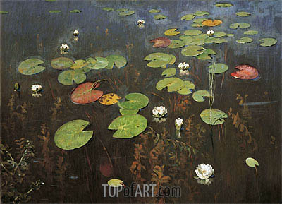 Water Lilies, 1895 | Isaac Levitan | Painting Reproduction