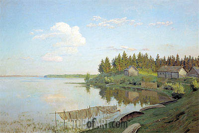 On Lake (The Tver Province), 1893 | Isaac Levitan | Gemälde Reproduktion