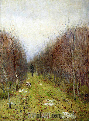 Autumn. Hunter, 1880 | Isaac Levitan | Gemälde Reproduktion