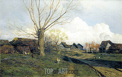 Savvinskaya Sloboda near Zvenigorod, 1884 | Isaac Levitan | Painting Reproduction