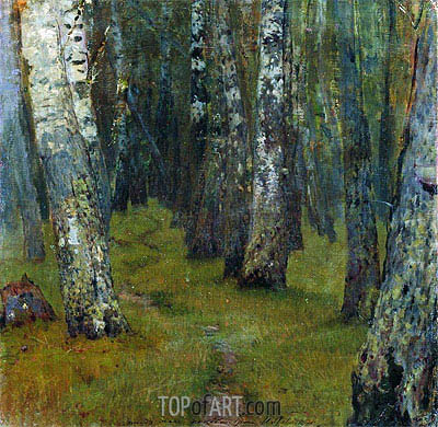 Birches. Grove Outskirts, Undated | Isaac Levitan | Gemälde Reproduktion