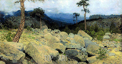 In the Crimean Mountains, 1886 | Isaac Levitan | Painting Reproduction