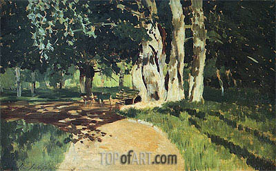In the Park, 1895 | Isaac Levitan | Painting Reproduction
