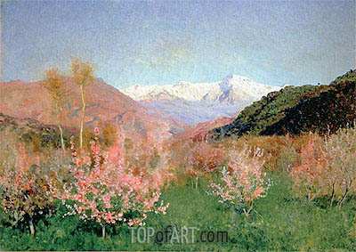 Spring in Italy, 1890 | Isaac Levitan | Gemälde Reproduktion