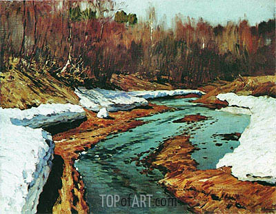 Spring. Last Snow, 1895 | Isaac Levitan | Painting Reproduction