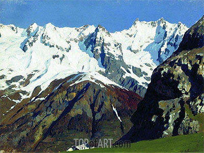 Mont Blanc Mountains, 1897 | Isaac Levitan | Painting Reproduction