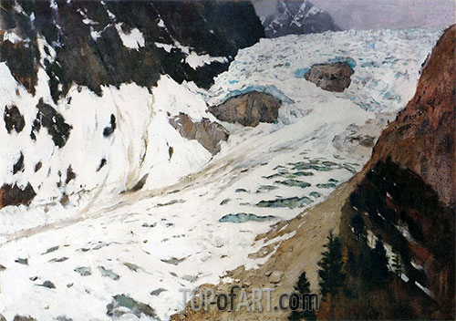 Alps. Snow, 1897 | Isaac Levitan | Painting Reproduction