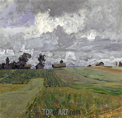 Stormy Day, 1897 | Isaac Levitan | Painting Reproduction