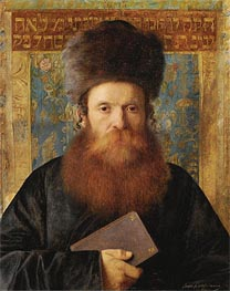 Portrait of a Rabbi | Isidor Kaufmann | Painting Reproduction