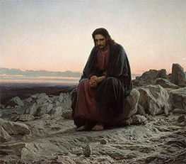 Christ in the Wilderness | Ivan Kramskoy | Painting Reproduction