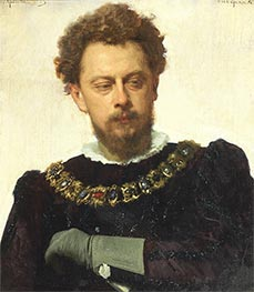 Actor A.P. Lensky in the Role of Petruchio, 1883 by Ivan Kramskoy | Painting Reproduction
