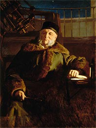 Portrait of the Astronomer Otto Vasilievich Struve, 1886 by Ivan Kramskoy | Painting Reproduction