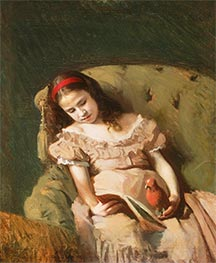 Books Got Her, 1872 by Ivan Kramskoy | Painting Reproduction