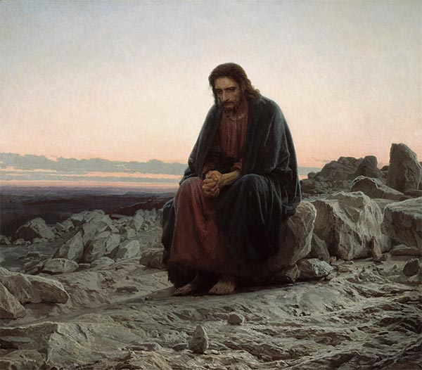 Christ in the Wilderness, 1872   Ivan Kramskoy   Painting Reproduction