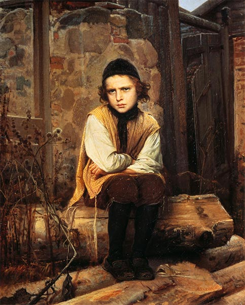 An Offended Jewish boy, 1874 | Ivan Kramskoy | Painting Reproduction