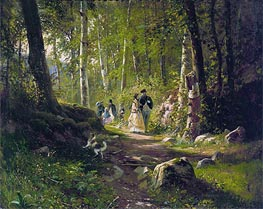 A Walk in the Forest | Ivan Shishkin | Gemälde Reproduktion